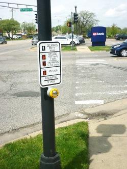 Cross walk signal